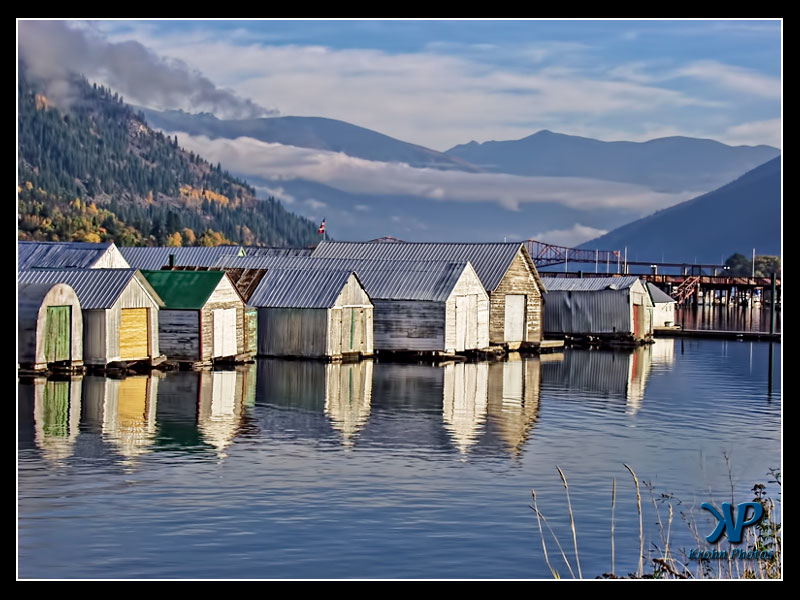 Boat Houses, Nelson, BC, Canada