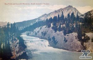 cd2002-pc27.jpg - Bow Falls and Cascade mtn